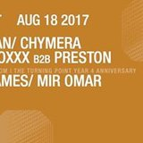 Pig&Dan/ Chymera (Live)/ Durtysoxxx b2b Preston at Output and The Turning Point Year 4 Anniversary in The Panther Room